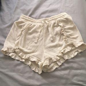 Love love dream Aeropostale ruffle fleece shorts